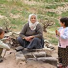 Turkish Grandmother with Young Ones by Anita Donohoe
