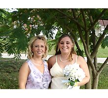 Becky and I before her wedding Photographic Print
