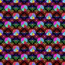 Rainbow Peace Signs | Repeat Pattern by Cherie Balowski