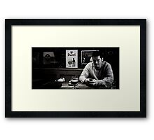The Grey Line of the Modern English Man Framed Print