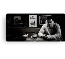 The Grey Line of the Modern English Man Canvas Print