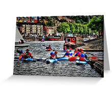Canoe school Greeting Card