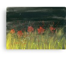 Poppies at night Canvas Print