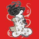 Black Tea Geisha by thickblackoutline