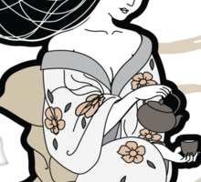 Black Tea Geisha Sticker