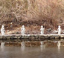 Cherubs on Icy Pond by Susan Grissom