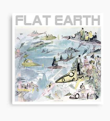 Flat Earth Designs - Flat Earth Future 2000 Design Canvas Print