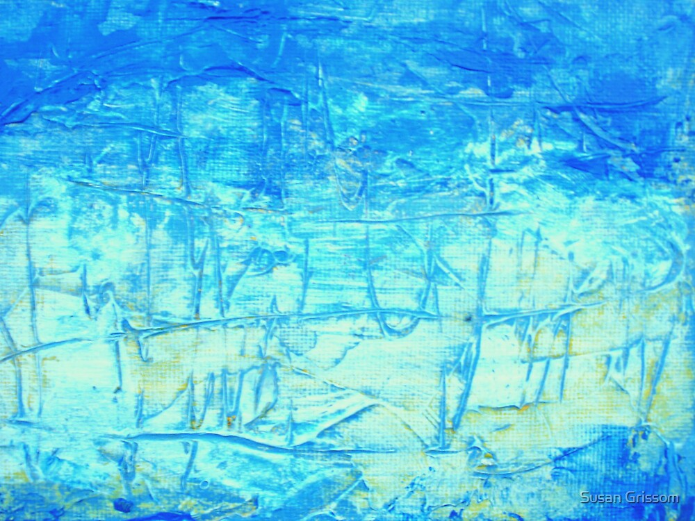 Blue Abstract no 4 by Susan Grissom