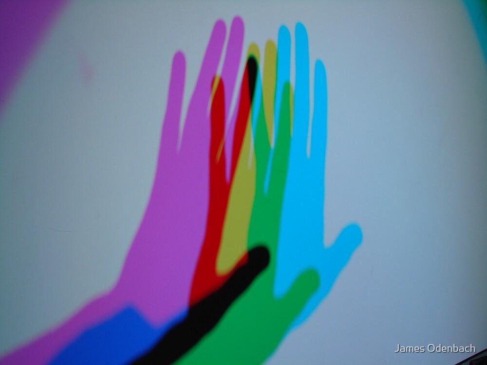 Light art-hand by James Odenbach