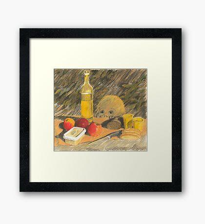 Picknick Gast Framed Print