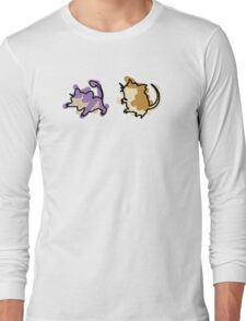 Rattata Raticate Long Sleeve T-Shirt