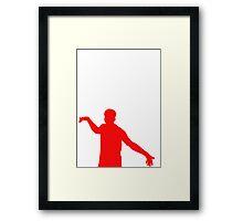 Red Sturridge Silhoutte Framed Print