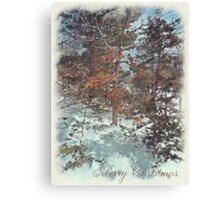 Beautiful Branches - Merry Christmas Canvas Print