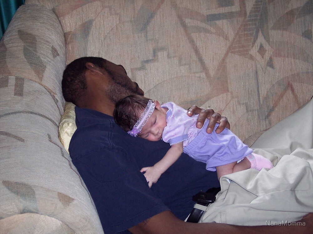 Napping with God Daddy Dwight by NanaMomma