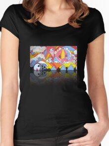 Collaboration Painting - mikoto & Shannon Crees (also a 2 minute time lapse video!) Women's Fitted Scoop T-Shirt