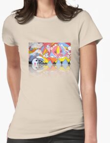 Collaboration Painting - mikoto & Shannon Crees (also a 2 minute time lapse video!) Womens Fitted T-Shirt