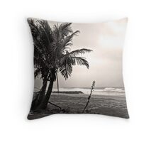 Lonely Palms Throw Pillow