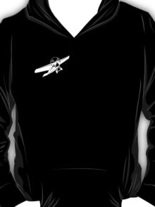 white plane, black t shirt. T-Shirt