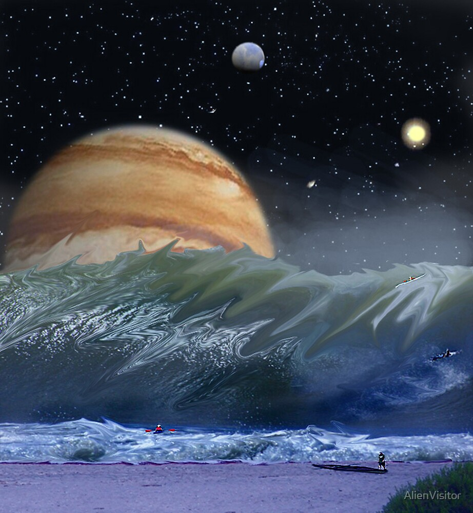 """Alien Landscapes-""""Surfs up-Evers Pipe"""" by AlienVisitor"""