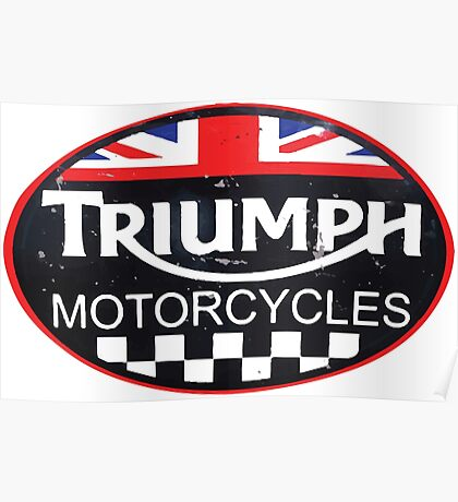 Triumph motorcycles Poster