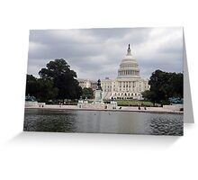 The United States Capitol -- A Western View Greeting Card