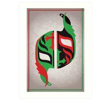 """Máscara Misteriosa"" Wrestling Design (White) Art Print"