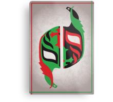 """Máscara Misteriosa"" Wrestling Design (White) Metal Print"