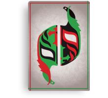 """Máscara Misteriosa"" Wrestling Design (White) Canvas Print"