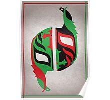 """Máscara Misteriosa"" Wrestling Design (White) Poster"