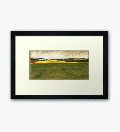 Rapsfelder Framed Print