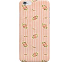 Peach Stripes Floral iPhone Case/Skin