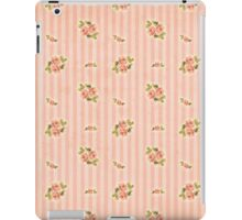 Peach Stripes Floral iPad Case/Skin