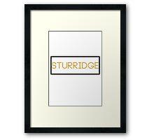 Sturridge block art Framed Print