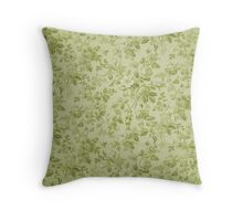 Green Floral Throw Pillow