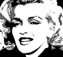 Marilyn in Black and White #4 by Saundra Myles