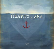 Hearts at Sea - The 2015 Modern Rosie Calendar featuring art by Becky Litton by BeckyLitton