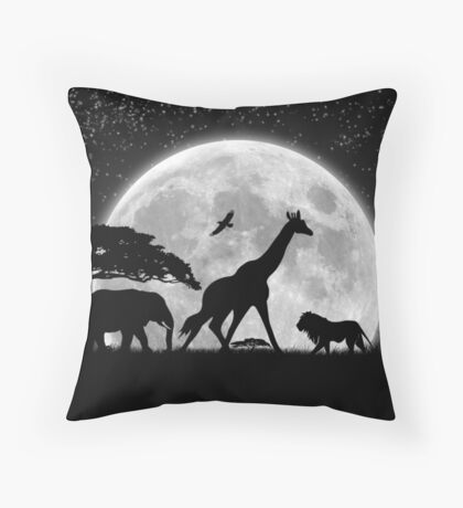 Late Night African Meeting Throw Pillow