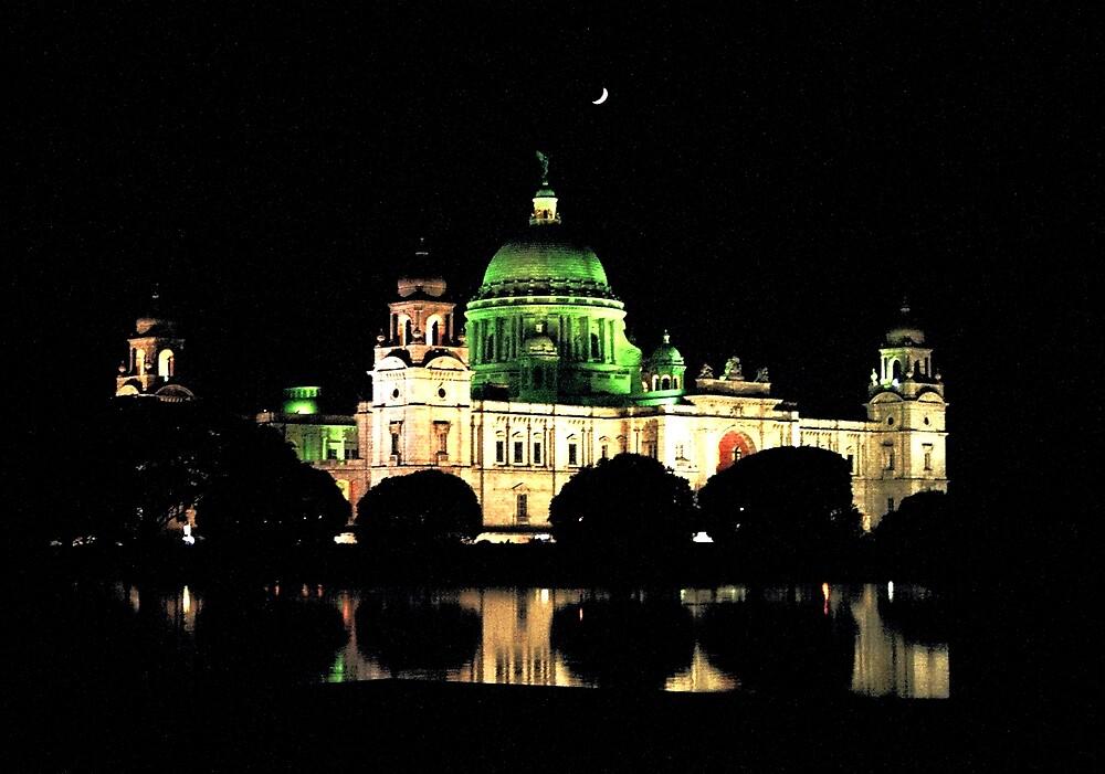 Victoria Memorial at Night by Joydeep