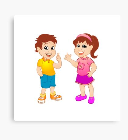Boy and girl.  Canvas Print