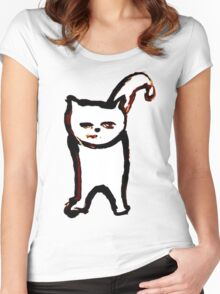 Scat, Cat! 6 large Women's Fitted Scoop T-Shirt