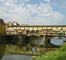 Casa del Sole: Ponte Vecchio, Florence, Tuscany, Italy, Europe by Sarah  Fraser