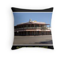 Railway Hotel - Coolgardie Throw Pillow