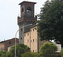 Casa del Sole: Clock Tower & Mediaeval Prison, Pescia, Tuscany, Italy by Sarah  Fraser