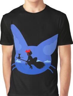 Kiki and Jiji's Flight Graphic T-Shirt