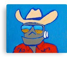 Robot Redneck Canvas Print