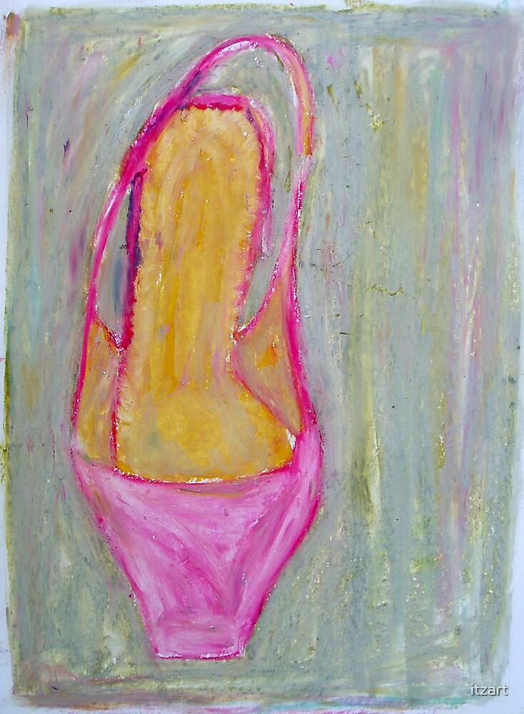 pink shoe by itzart