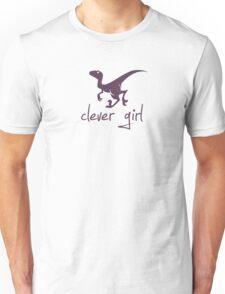 Clever Girl Dinosaur Velociraptor Unisex T-Shirt