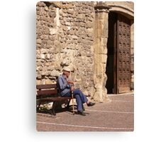 Old French Man Canvas Print