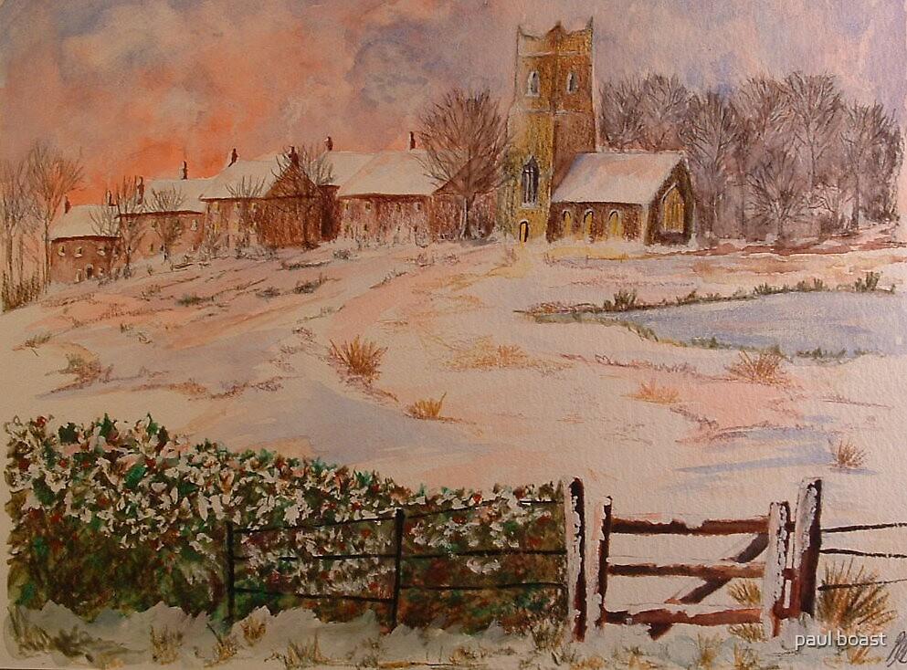 christmas, watercolour by paul boast