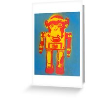Chimpbot Greeting Card
